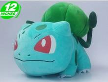 """Envío gratis felpa nuevo Pokemon peluches 12 """" lindo Bulbasaur peluche juguetes de peluche Anime Cosplay muñecas para el niño"""