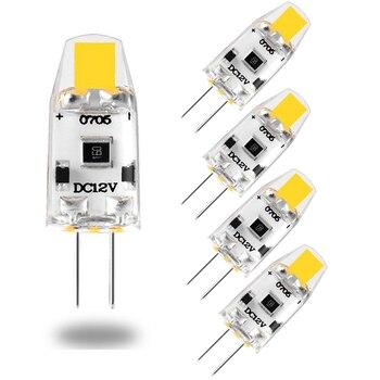 5PCS Mini G4 LED Bulb Dimmable 12V DC COB LED G4 Light Bulb 3000K 4000K 6000K 360 Beam Angle Replace 15W Halogen For Chandelier