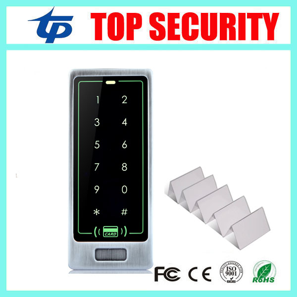 Free shipping good quality metal access control reader standalone mi-fare IC card 13.56mHZ door access control system free shipping access reader ic access control sensor ic card reader x005