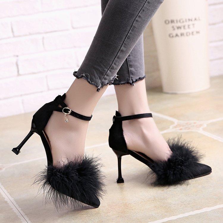 Simple Pointu Bout Femme À Dames Talons 2018 Mazefeng Style vert gris Pompes Femmes Noir Mode Chaussures Solide Hauts Matures WBqFnn7