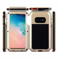 Heavy Duty Metall Rüstung Telefon Fall Für Samsung Galaxy S10 S10Plus S10Lite Fällen Wasserdicht Stoßfest Abdeckung Für Galaxy Note 10