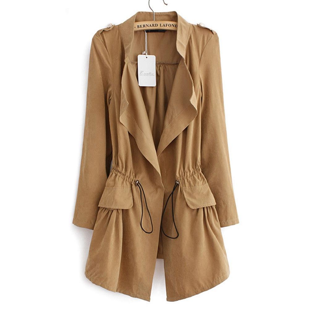 long manteau femme 2017 new spring plus size trench coat. Black Bedroom Furniture Sets. Home Design Ideas