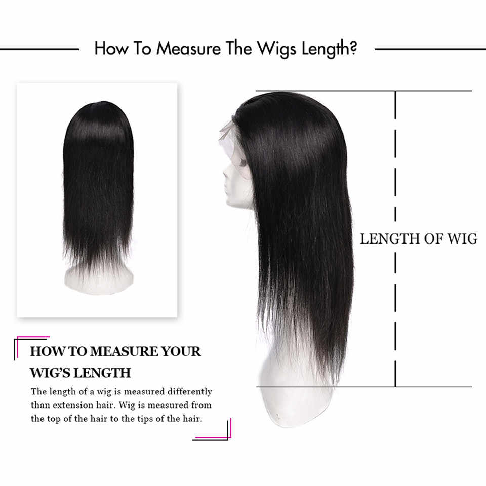 YVONNE 360 Lace Frontal Wig Pre Plucked With Baby Hair Virgin Straight Wigs For Black Women Natural Color