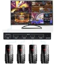 1080P 4x1 HDMI multi visionneuse HDMI Quad écran en temps réel multi visionneuse HDMI séparateur sans couture avec contrôle IR