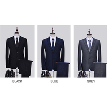 2017 Men Business Suit Slim fit Tuxedo Classic Male Suits Blazers Latest Coat Pant designs Two Buttons 2 pieces (Jacket+Pants)
