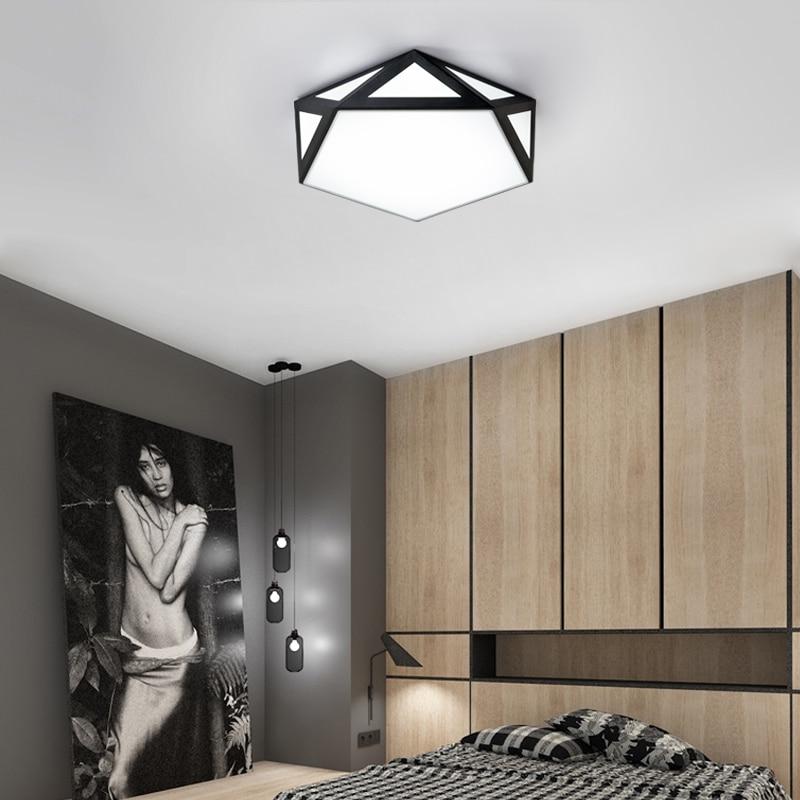 breve diamante Lámpara hueco techo de de hierro moderna de bgmYyvIf76