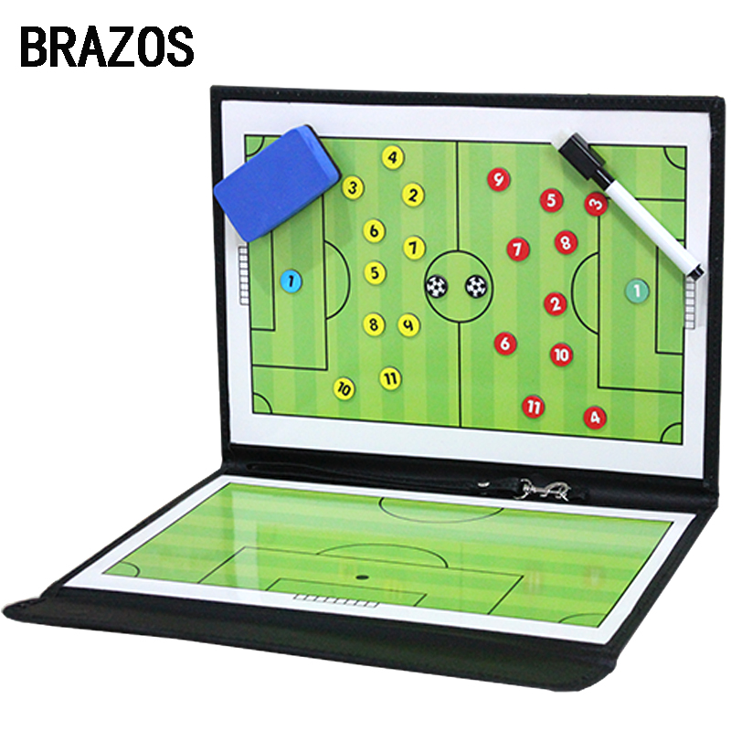 Foldable Magnetic Tactic Board Soccer Coaching Coach Tactical Board Football Game Portable Football Training Tactics Clipboard