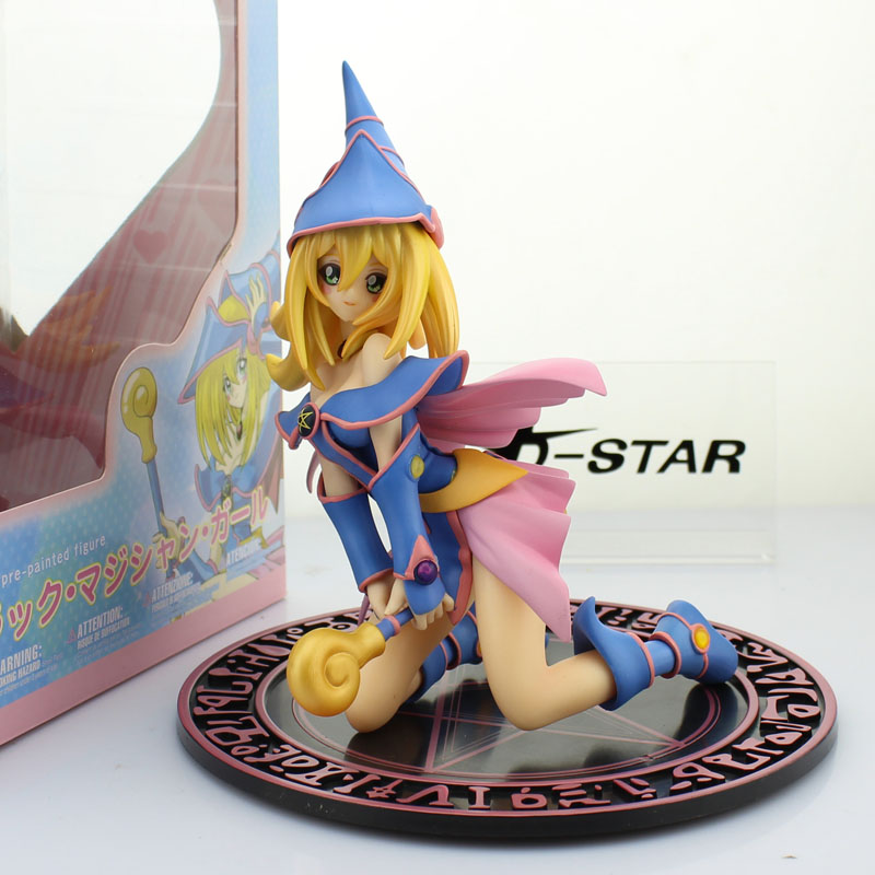 Free Shipping 7 Yu Gi Oh Yu-Gi-Oh! Anime Duel Monster: Dark Magician Girl Boxed 18cm PVC Action Figure Model Doll Toys Gift