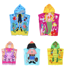 Children Beach Towel Children Hooded Boys Cartoon Girl Bath Towel Absorbent 6 Pattern Cute Home Textile Towel все цены