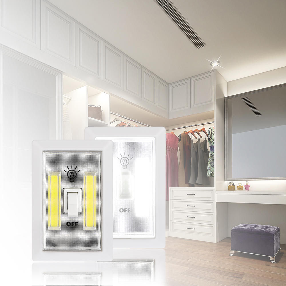 Magnetic LED Cabinet Light with Switch Wireless Wardrobe ...