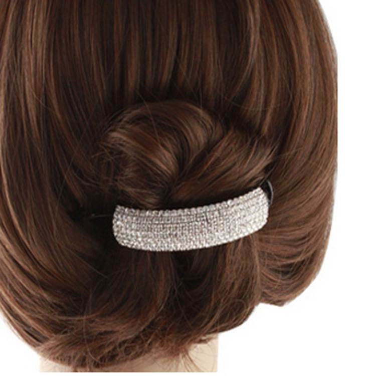 1PC Big Hairpin Banana Chuck Hair Top Clip Twist Rhinestone Ponytail Accessories G0402