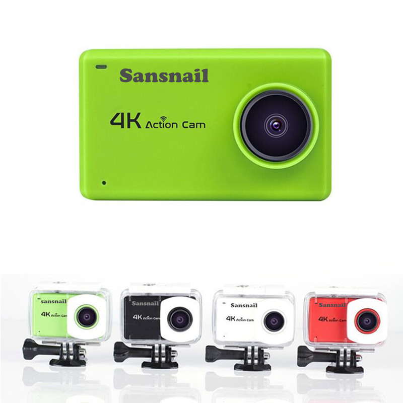 B1 Sansnail original 16mp real action sports camera 4k 24fps 2.45 inch novatek 96660 touch screen camcorder image