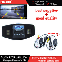 FUWAYDA Wireless SONY CCD Car Rear View High Quality Reverse Back Up CAMERA for Honda Accord Pilot Civic Odyssey / Acura TSX