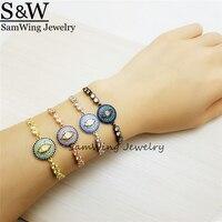 5piece Trending Styles New Look Turkey Evil Eye Bracelets For Girls White Cubic Zirconia Fashion Bracelet