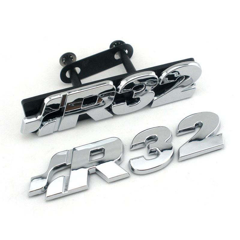 golf r32 chrome front grill badge emblem golf tdi r 3 2l. Black Bedroom Furniture Sets. Home Design Ideas