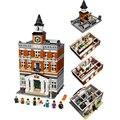 2016 creadores lepin marca 15003 calle de la ciudad el ayuntamiento kits de edificio modelo bloques de figuras juguetes compatible con lego