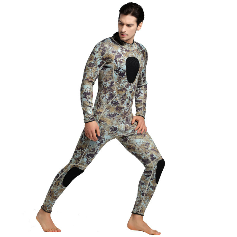 SBART Diving Suit 3MM Neoprene Wetsuit Men Long Sleeve Full Swimwear Keep Warm Winter Water Sports Swim Surfing Wetsuits L1017 men s winter warm swimwear rashguard male camouflage one piece swimsuit 3mm neoprene wetsuit man snorkeling diving suit