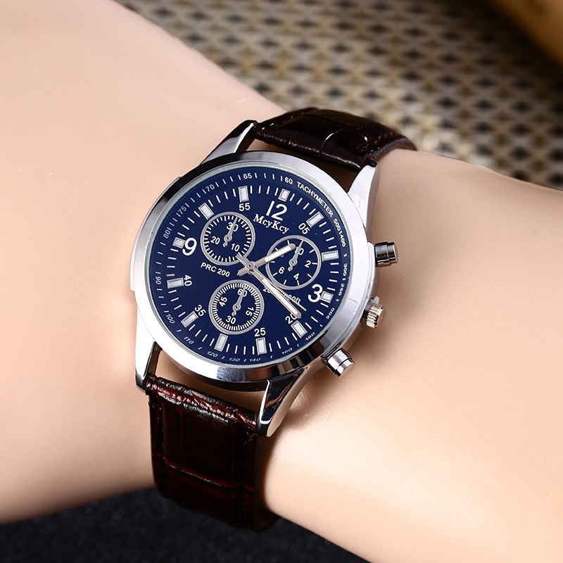 2018 NEW Fashion Brand Quartz Watch Men Military Leather Sports Watches Man Blue Glass Clock Relogio Masculino zegarki meskie weide new men quartz casual watch army military sports watch waterproof back light men watches alarm clock multiple time zone