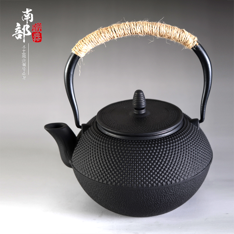 1200ml Genuine Japanese Cast Iron Teapot Uncoated Pig Iron Kettle Boiled Water Tea Pot Kung Fu Tea iron teapot Free Shipping