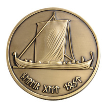 New Hot Bronze Gold Challenge Coin Sailing Commemorative