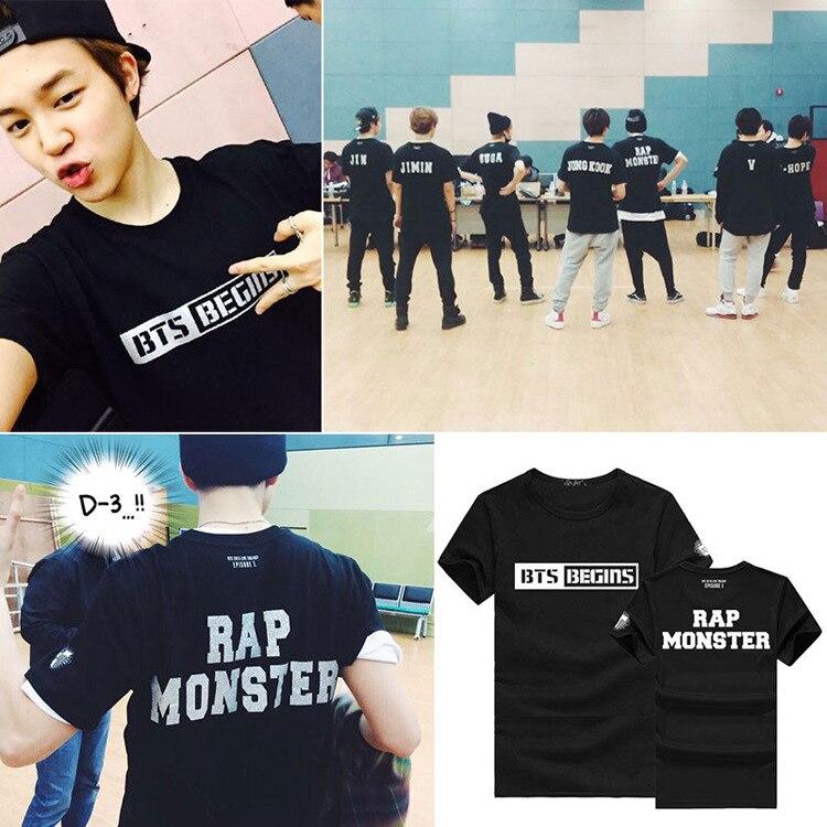 から2016新しい kpop bts グループ jimin v菅ジン トップス男性トップス \u0026 tシャツ綿tシャツ女性\u0026男性ファッション  デザイン メンズ tシャツ プリントを購入します