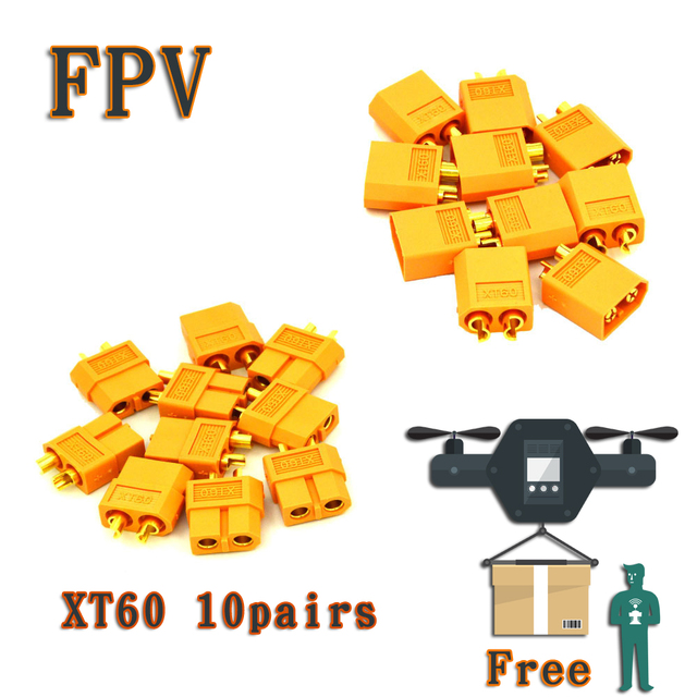 10 Pairs Xt60 Connector Fpv Camera Direct Selling New Value 2 Hsp Brushless  Plug Male Female For Multicopter