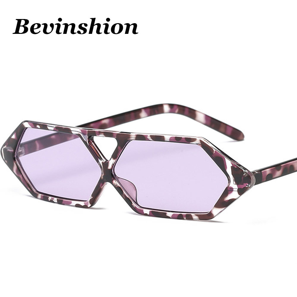 New 2018 Brand Vintage Polygone Sun Glasses Female Square