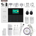 DAYTECH GSM WiFi Alarm System Security Home PIR Detector Door Sensor APP iOS/Android APP Control TFT Screen 8 Languages