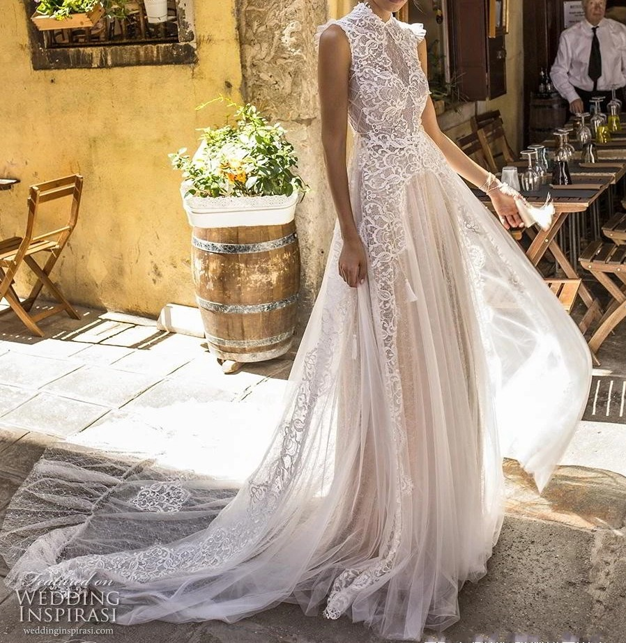 Vintage Wedding Dresses 2019: Aliexpress.com : Buy Vintage Lace Boho Beach Wedding Dress