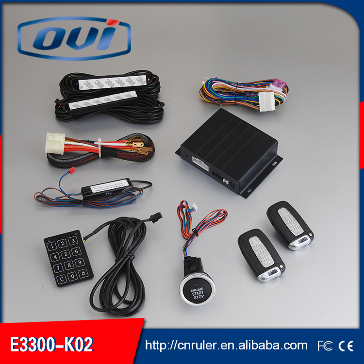 In Stock Car Passive Keyless Entry System,Smart PKE Car Alarm System, Auto Arm & Disarm Password Keyboard