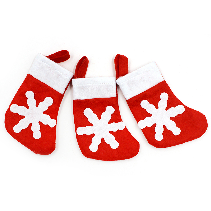 1pcs Funny Santa Tableware Bag Christmas Decoration Dining Table Knife Fork Restaurant Tableware Bags