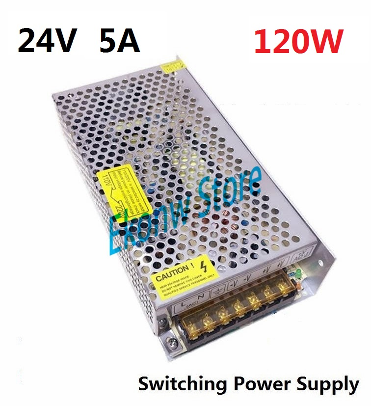 120W 24V 5A Switching Power Supply Factory Outlet SMPS Driver AC110-220V to DC24V Transformer for LED Strip Light Module Display best quality 12v 15a 180w switching power supply driver for led strip ac 100 240v input to dc 12v