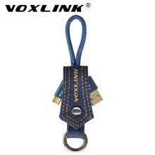 VOXLINK 3 Pack usb type c cable Key Ring denim USB C Cable for Xiaomi Mi 4C Mi5 5s plus Nexus 5X 6P Oneplus ZUK Z1 Huawei P9(China)