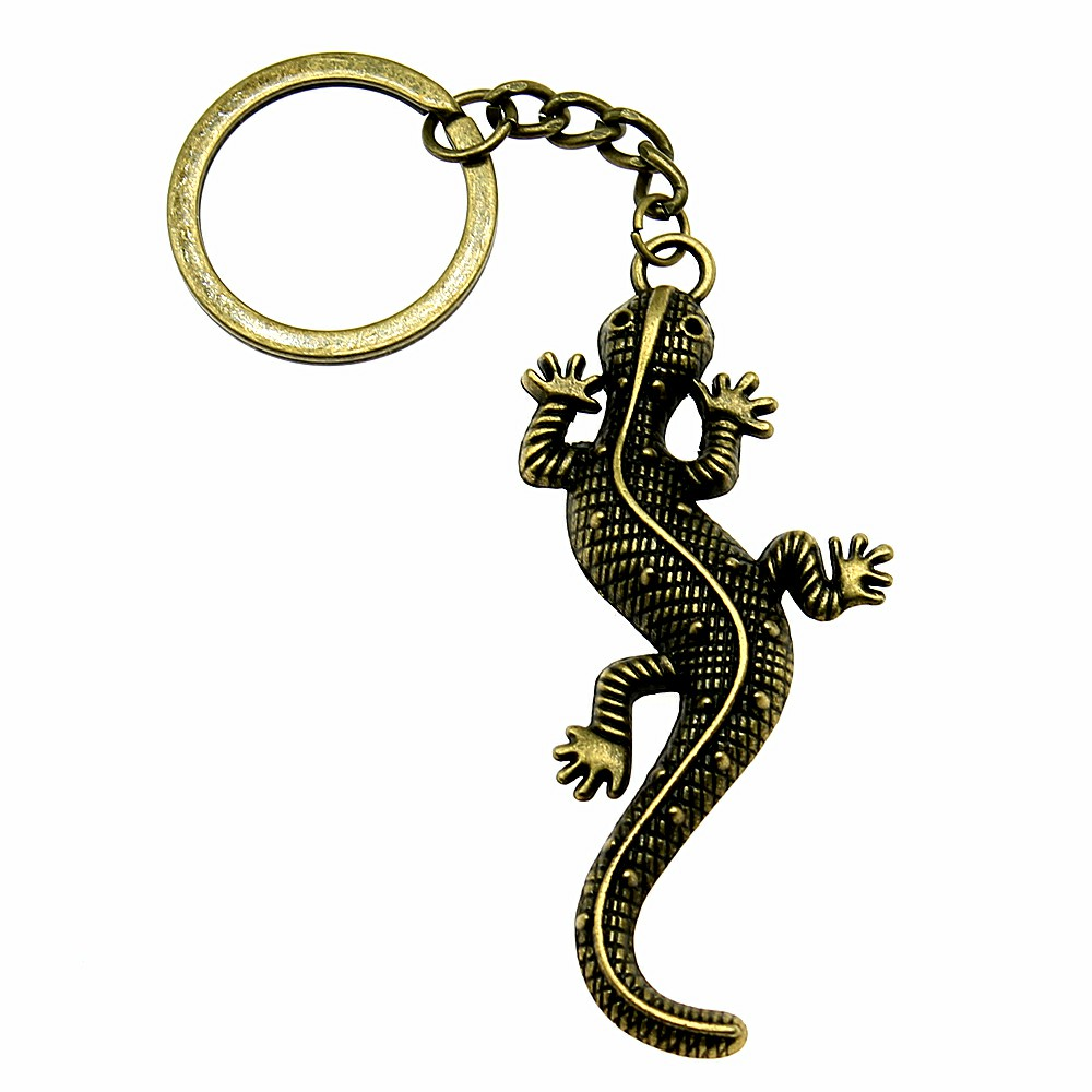 New Fashion Keyholder Snake Reptile Keychain Gecko Key Chain Key Ring Handmade DIY Men Jewelry Bag Charm Gift For Boyfriend in Key Chains from Jewelry Accessories