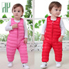 HH 1 5Yrs Winter Children Kids Duck Down Bib Pants For Girls Overalls Autumn Toddler Boys