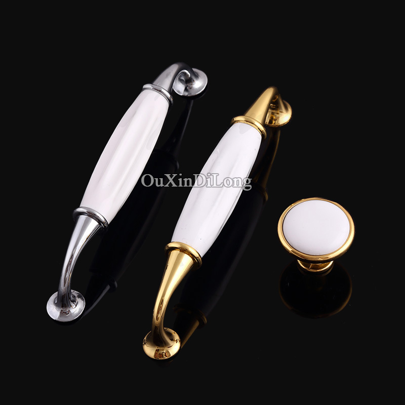 Luxury 20PCS European Style Kitchen Door Furniture Handles Ceramic Cupboard Wardrobe Drawer Wine Cabinet Pulls Knobs and Handles 2017 free shipping european kitchen handle ivory white drawer wardrobe door handles modern simple hardware wine cabinet pulls