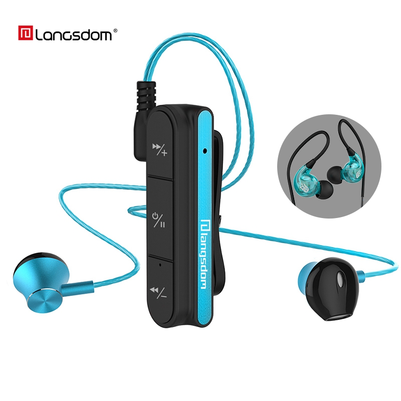 Langsdom BX10 Sport Bluetooth Earphone Running Wireless Bluetooth Headset With Mic In-Ear Bass Earphones For iPhone Xiaomi MP3