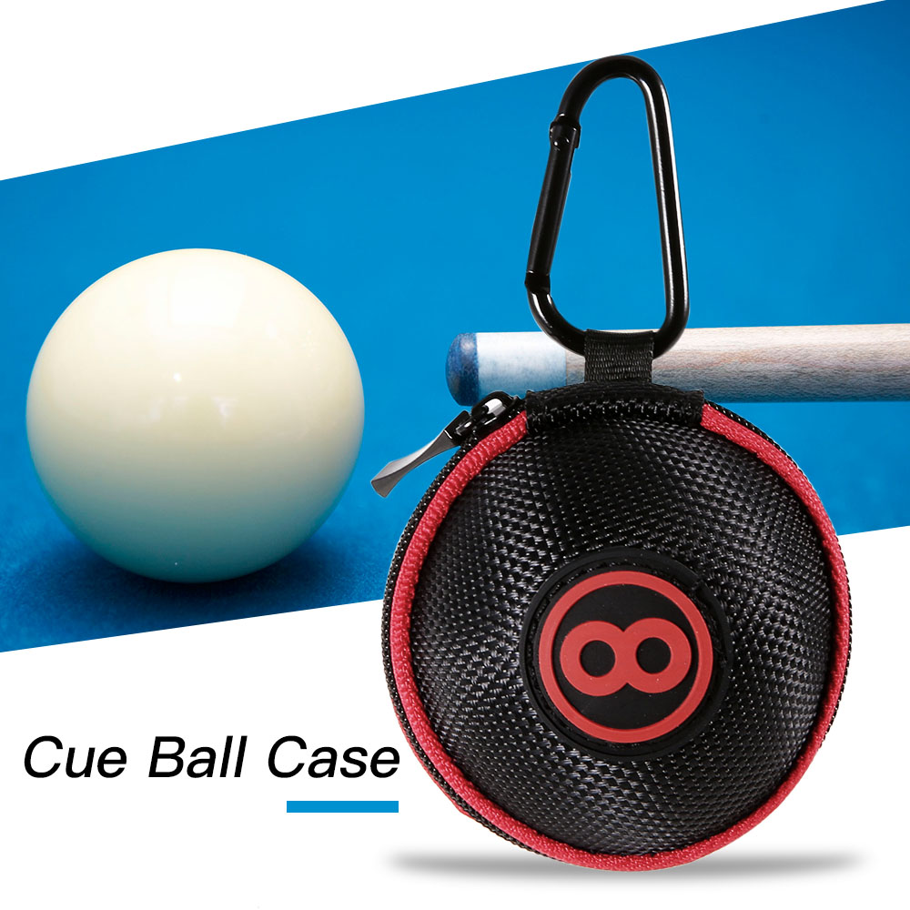 Billiard Ball Bag Cue Ball Case Clip On Attaching Pool Balls Holder Carrying Case Portable Billiards Protector Bag Accessory