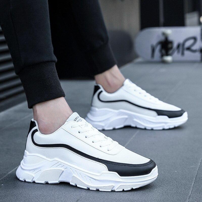 Homme Épais White Sneakers black Black Casual Red D'hiver Nouveaux Automne Ins white Sport De Hommes Feerijt Red Et Chaussures 2018 Étudiants qw7OxZO6