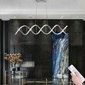 Einfache Kreative Aluminium Doppel Spirale Anhänger Lichter Dimmen Fernbedienung Licht Für Licht Wohnzimmer Esszimmer-in Pendelleuchten aus Licht & Beleuchtung bei