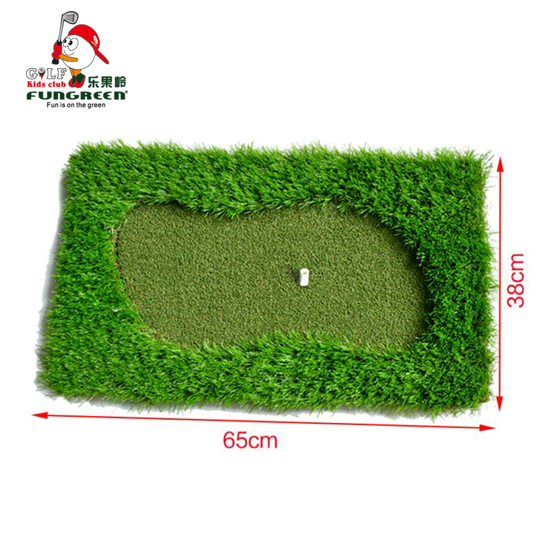 MINI Green Golf Mat 65x38cm Training Hitting Pad Practice Rubber Tee Holder golf putting mat indooroutdoor Backyard
