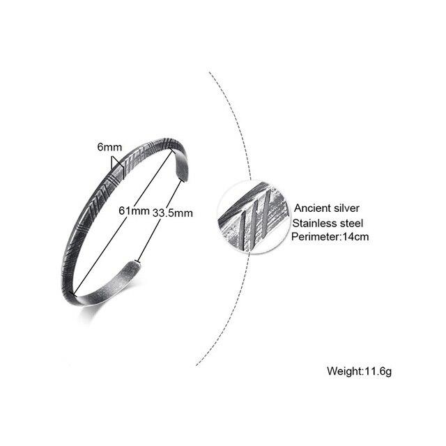 Bracelet Viking rétro acier inoxydable 4