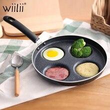 Czterootworowa omlet do jajek szynka naleśnikarka patelnie kreatywna nieprzywierająca bez dymu olejowego śniadanie misa na grilla garnek do gotowania
