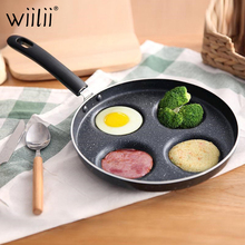 Four hole Omelet Pan For Eggs Ham PanCake Maker Frying Pans Creative Non stick No Oil smoke Breakfast Grill Pan Cooking Pot