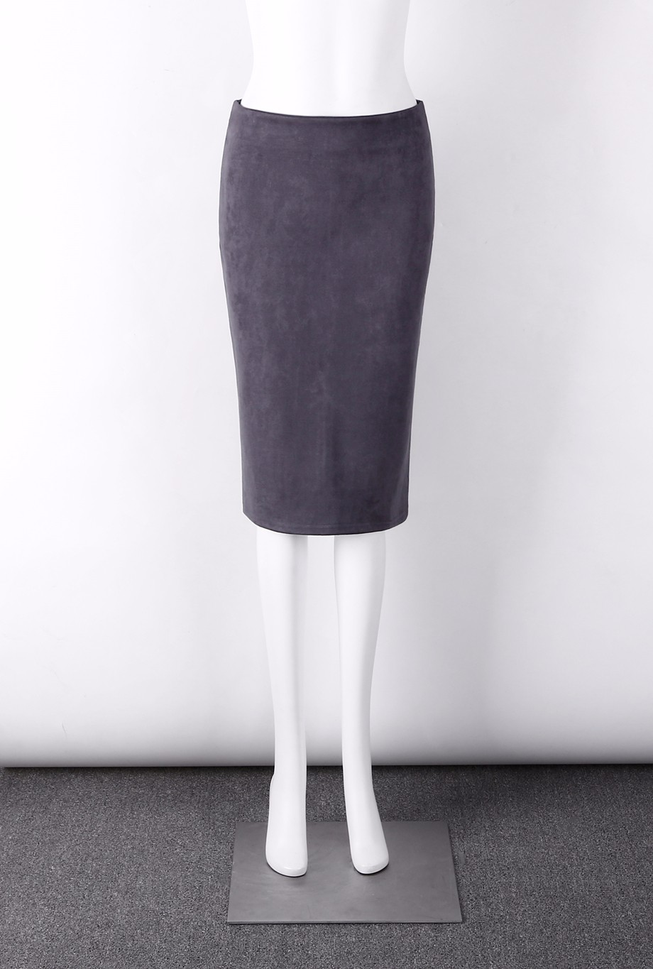Neophil 19 Winter Women Suede Midi Pencil Skirt High Waist Gray Pink XXL Sexy Style Stretch Wrap Ladies Office Work Saia S1009 25