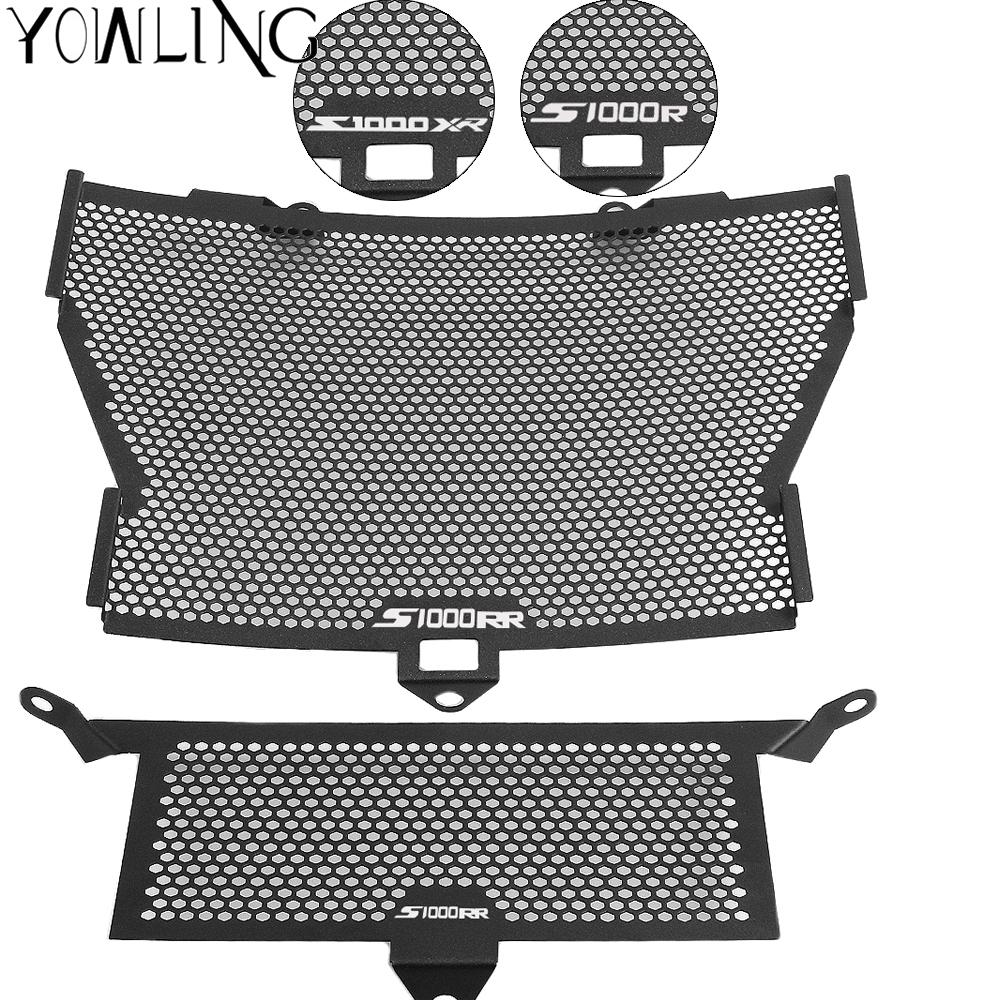 Black Motorcycle Accessories Radiator Guard Protector Grille Grill Cover For BMW S1000XR S1000RR S1000R HP4 Moto