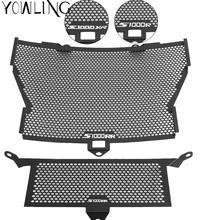 ملحقات الدراجة النارية السوداء واقي شبكة حماية المبرد غطاء الشواية لسيارات BMW S1000XR S1000RR S1000R HP4 إكسسوارات الدراجات النارية