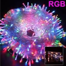 Рождественский светильник s 5 м 10 20 30 50 100 светодиодная