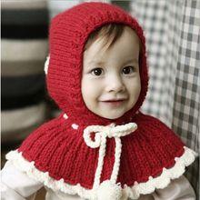 Dětská pletená čepička s ochranou ramen