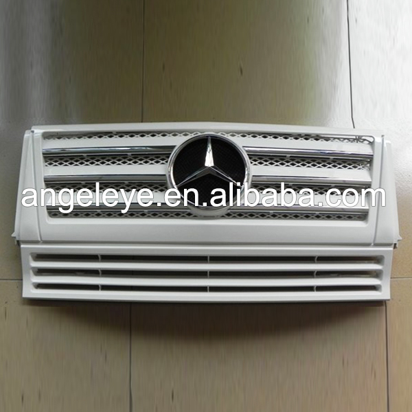 For Mercedes Benz G CLASS W463 G350 G400 G500 G55 Front Grille Auto Parts 1999 2013 Year Silver color TW